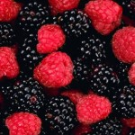berries rasp and black
