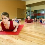 girl exercise mat